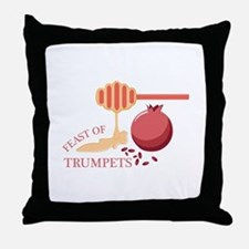 Feast Of Trumpets Throw Pillow