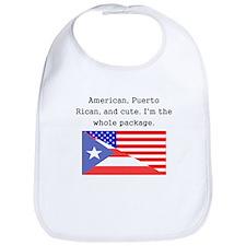American Puerto Rican And Cute Bib