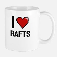 I Love Rafts Digital Design Mugs
