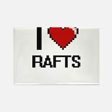 I Love Rafts Digital Design Magnets