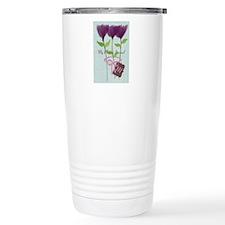 Custom Watercolor Violet Flowers Pastels Travel Mu