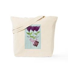 Custom Watercolor Violet Flowers Pastels Tote Bag