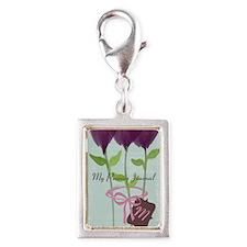 Custom Watercolor Violet Flowers Pastels Charms