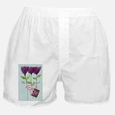 Cute Mom Gardener Flower Boxer Shorts