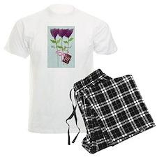 Custom Watercolor Violet Flowers Pastels Pajamas