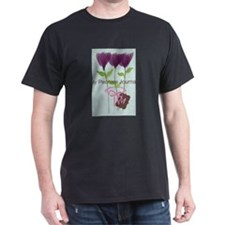 Custom Watercolor Violet Flowers Pastels T-Shirt