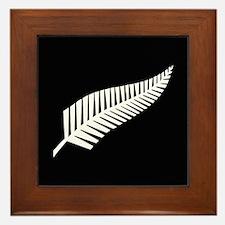Silver Fern Flag Framed Tile