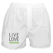 Live Love Organize Boxer Shorts