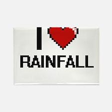 I Love Rainfall Digital Design Magnets
