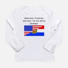 American Croatian And Cute Long Sleeve T-Shirt