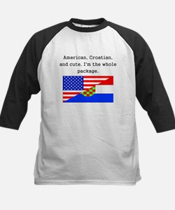 American Croatian And Cute Baseball Jersey