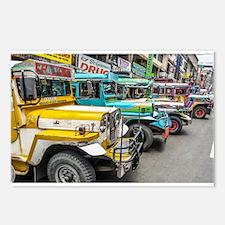 Baguio Jeepneys 4 Postcards (Package of 8)