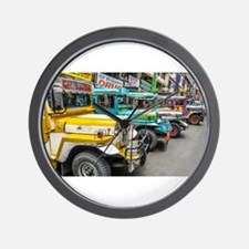 Baguio Jeepneys 4 Wall Clock