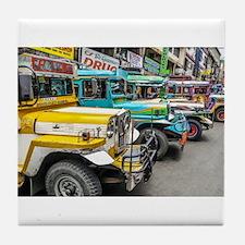Baguio Jeepneys 4 Tile Coaster