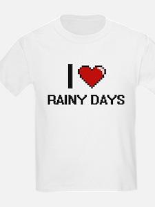 I Love Rainy Days Digital Design T-Shirt