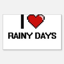 I Love Rainy Days Digital Design Decal