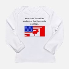 American Canadian And Cute Long Sleeve T-Shirt