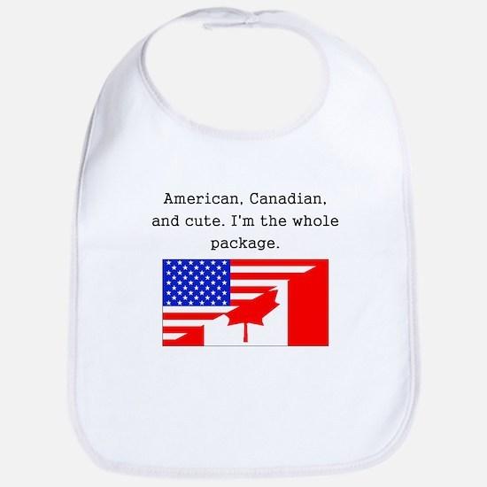 American Canadian And Cute Bib