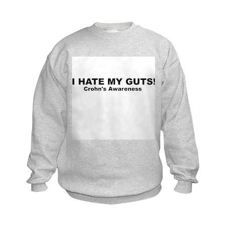 """Crohn's """"I hate my guts"""" Kids Sweatshirt"""