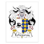 Echegaray Family Crest Small Poster