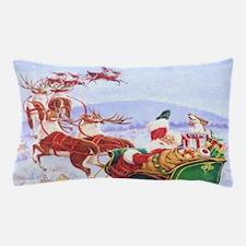 Santa with the sleigh Pillow Case