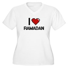I Love Ramadan Digital Design Plus Size T-Shirt
