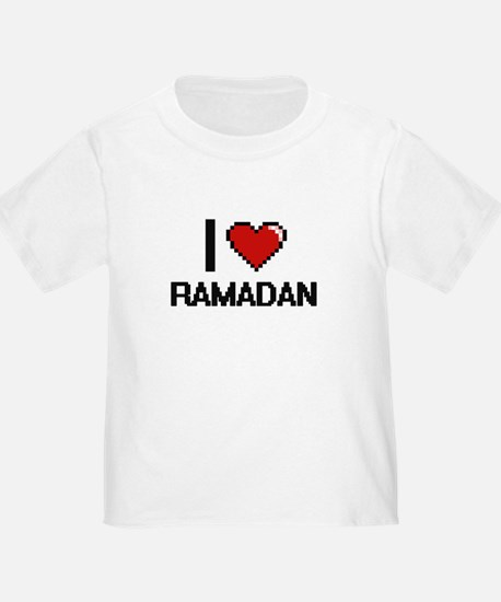 I Love Ramadan Digital Design T-Shirt