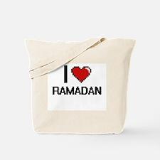 I Love Ramadan Digital Design Tote Bag