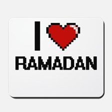 I Love Ramadan Digital Design Mousepad