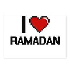 I Love Ramadan Digital De Postcards (Package of 8)