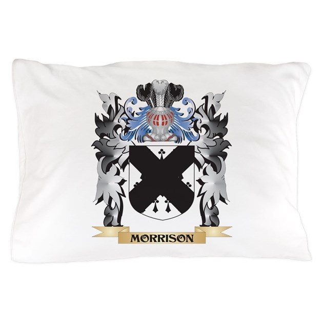 Morrison Coat Of Arms Family Crest Pillow Case By Admin