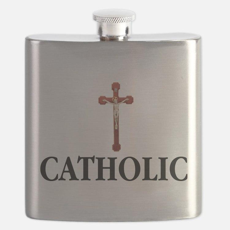 Cute Catholic Flask