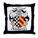 Echebarria Family Crest Throw Pillow