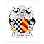 Echebarria Family Crest Small Poster