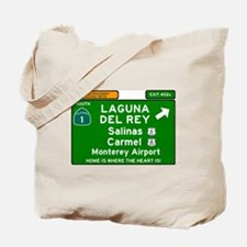 HIGHWAY 1 SIGN - CALIFORNIA - CARMEL - SA Tote Bag