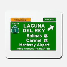 HIGHWAY 1 SIGN - CALIFORNIA - CARMEL - S Mousepad