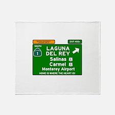 HIGHWAY 1 SIGN - CALIFORNIA - CARMEL Throw Blanket