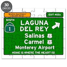 HIGHWAY 1 SIGN - CALIFORNIA - CARMEL - SALI Puzzle