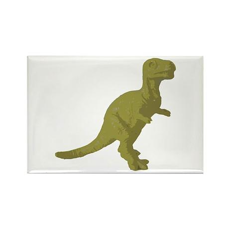 Gold Oldschool T.rex Rectangle Magnet (100 pack)