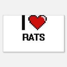 I Love Rats Digital Design Decal
