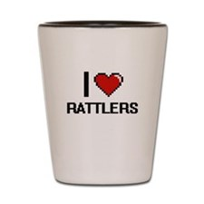 I Love Rattlers Digital Design Shot Glass