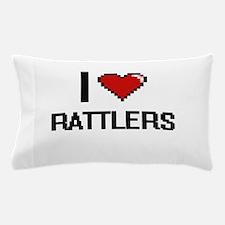 I Love Rattlers Digital Design Pillow Case