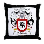 Echaniz Family Crest Throw Pillow