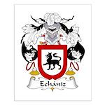 Echaniz Family Crest Small Poster