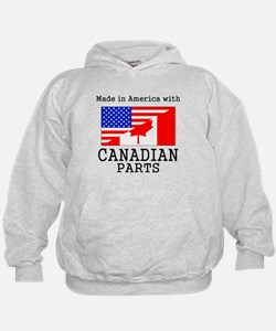 Made In America With Canadian Parts Hoodie