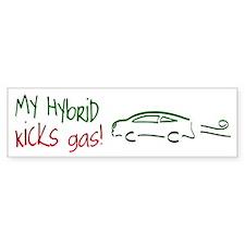 Hybrid Car Kicks Gas Bumper Bumper Sticker
