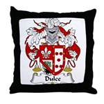 Dulce Family Crest Throw Pillow