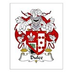 Dulce Family Crest Small Poster