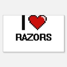 I Love Razors Digital Design Decal