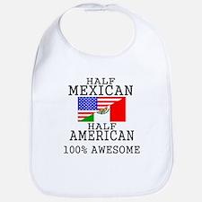 Half Mexican Half American Bib